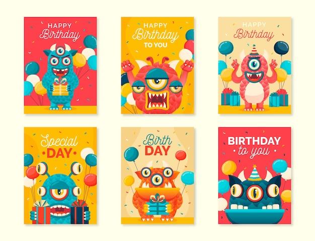 Gelukkige verjaardagskaart collectie