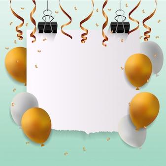 Gelukkige verjaardagskaart met leeg teken