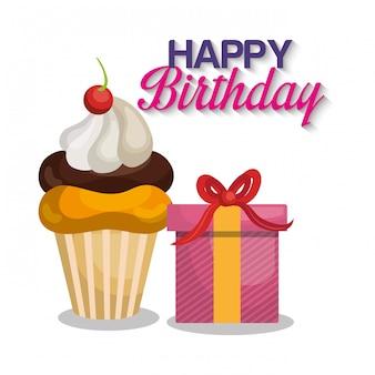 Gelukkige verjaardagskaart ontwerp