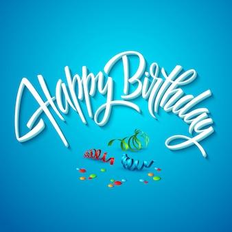 Gelukkige verjaardagskaart typografie.