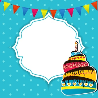 Gelukkige verjaardagskaart vectorillustratie