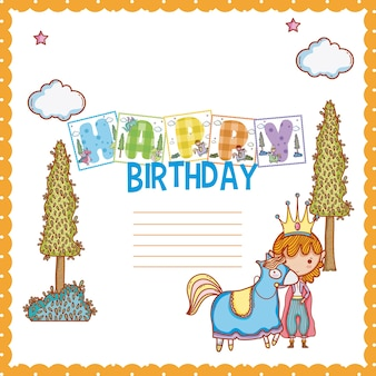 Gelukkige verjaardagskaart voor kleine jongen