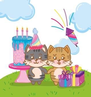 Gelukkige verjaardagskatten