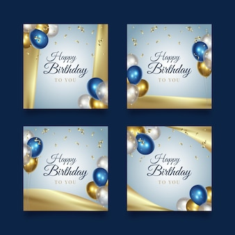 Gelukkige verjaardagspartij instagram-berichten