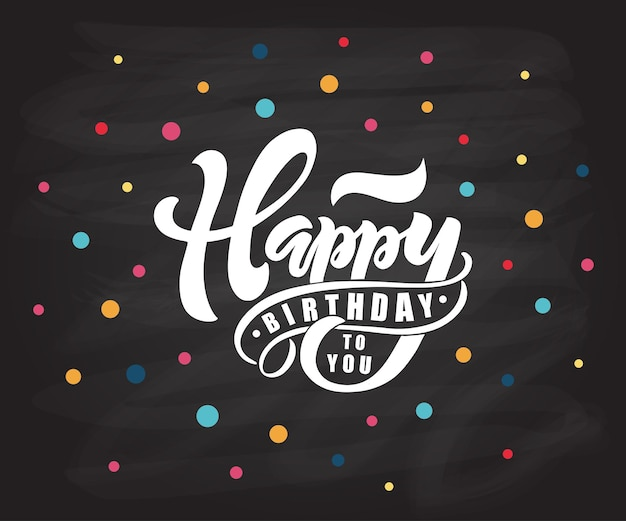 Gelukkige verjaardagstekst als verjaardagsbadge/tag/pictogram. gelukkige verjaardagskaart/uitnodiging/bannersjabloon. verjaardag achtergrond. gelukkige verjaardag belettering typografie poster. vectorillustratie eps 10