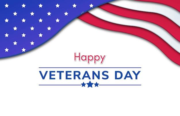 Gelukkige veteranen dag papercut achtergrond
