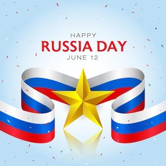 Gelukkige viering van de onafhankelijkheidsdag van rusland