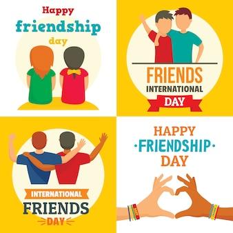 Gelukkige vrienden dag