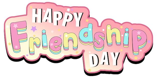 Gelukkige vriendschapsdag-logobanner