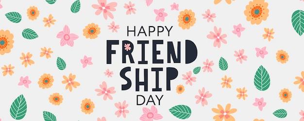 Gelukkige vriendschapsdag wenskaart voor poster flyer banner voor website sjabloon kaarten posters logo v...