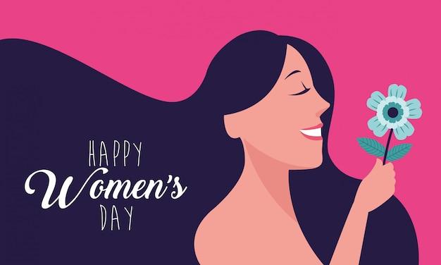 Gelukkige vrouw dag kaart