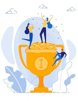 Gelukkige vrouwen vieren financieel succes een overwinning