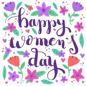 Gelukkige vrouwendag met bloemmotief