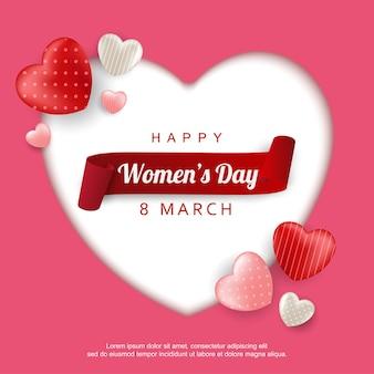 Gelukkige vrouwendag met realistische 3d-liefde