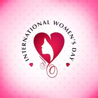 Gelukkige vrouwendag met roze patroonachtergrond en typografie