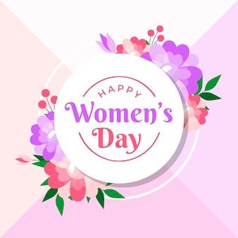 Gelukkige vrouwendag over de hele wereld met bloemen