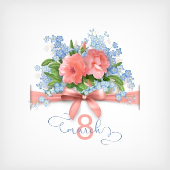 Gelukkige vrouwendag wenskaart op 8 maart