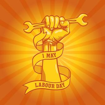 Gelukkige wereld dag van de arbeid in 1 mei
