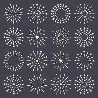 Gemaakt cirkels met lijnen en stippen