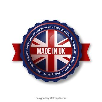 Gemaakt in brits etiket