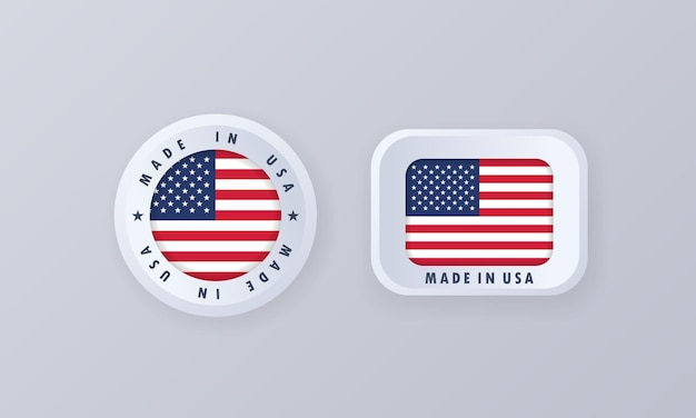 Gemaakt in de illustratie van de verenigde staten