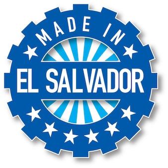 Gemaakt in de kleurstempel van de vlag van el salvador. vector illustratie