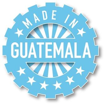 Gemaakt in de kleurstempel van de vlag van guatemala. vector illustratie