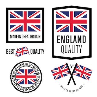 Gemaakt in groot-brittannië labelset