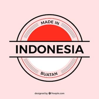 Gemaakt in indonesië label