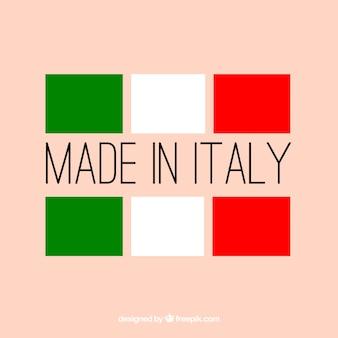 Gemaakt in italië label