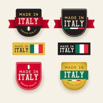 Gemaakt in italië sjabloon