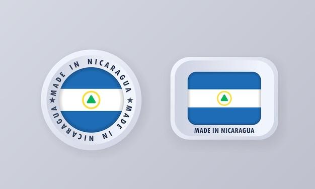 Gemaakt in nicaragua illustratie
