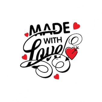 Gemaakt met typografische liefde
