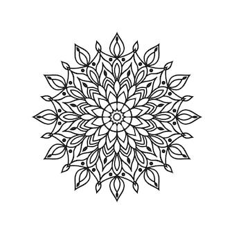 Gemakkelijk bewerkbare en aanpasbare kleuren mandala-achtergrond