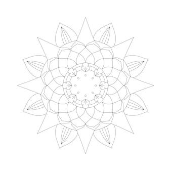 Gemakkelijk bewerkbare en aanpasbare mandala-achtergrond voor kleuren