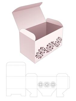 Gemakkelijk doos met gestencilde patroon gestanst sjabloon