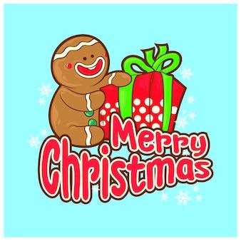 Gemberkoekje geef kerstmis