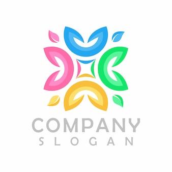 Gemeenschap logo ontwerp