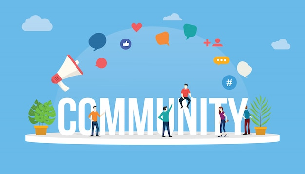 Gemeenschap mensen concept