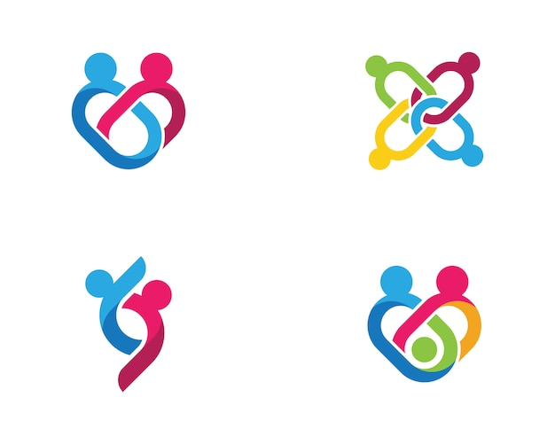 Gemeenschap pictogram ontwerpsjabloon