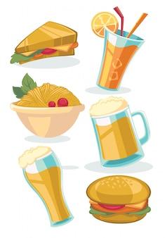 Gemeenschappelijk straatvoedsel en snacks