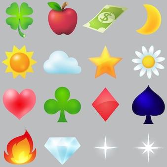 Gemeenschappelijke icon set