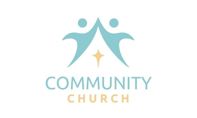 Gemeenschapskerk logo ontwerp inspiratie
