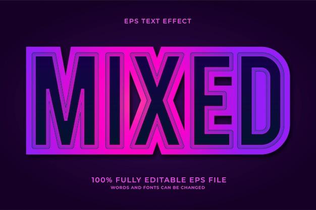 Gemengd teksteffect