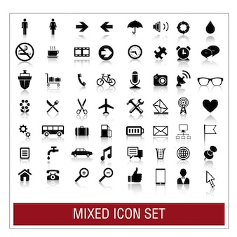 Gemengde icon set