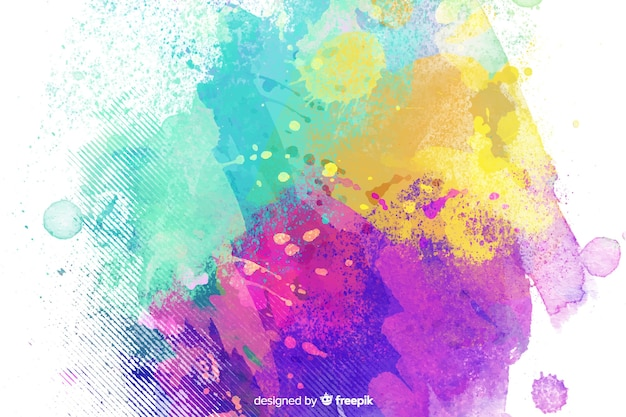 Gemengde kleuren kinderachtige stijl als achtergrond