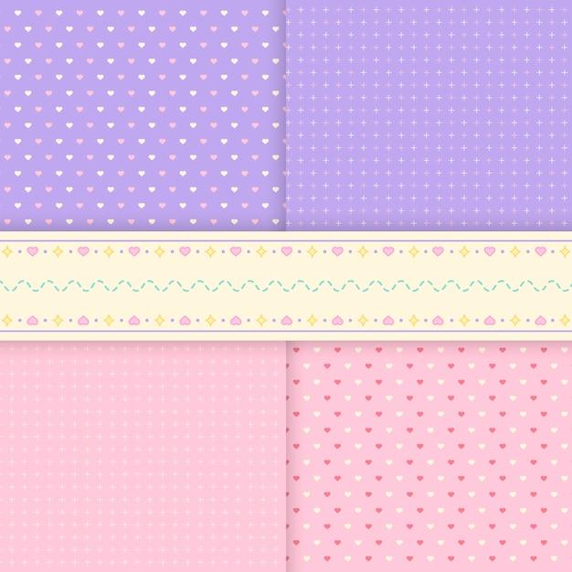 Gemengde patroonpastelkleur als achtergrond vectoren
