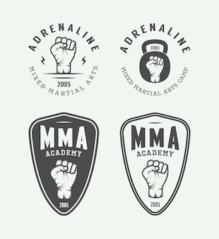 Gemengde vechtsportenemblemen