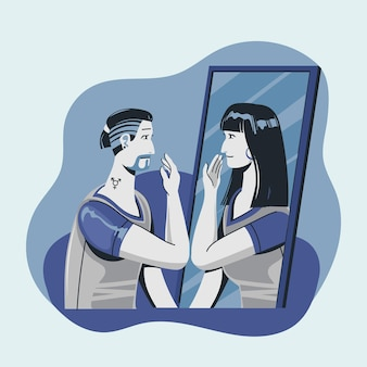 Gender identiteit concept illustratie