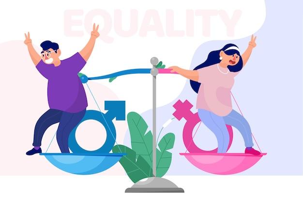 Gendergelijkheid concept